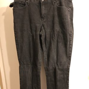 GAP 1969 Curvy Skinny 33L Black Denim Jeans